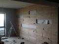 обличане на стена с дъбови дъски по проект